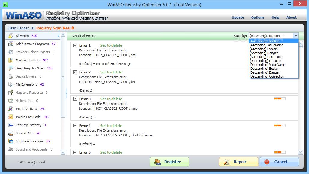 winaso registry optimizer full