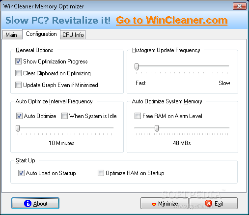 wincleaner memory optimizer