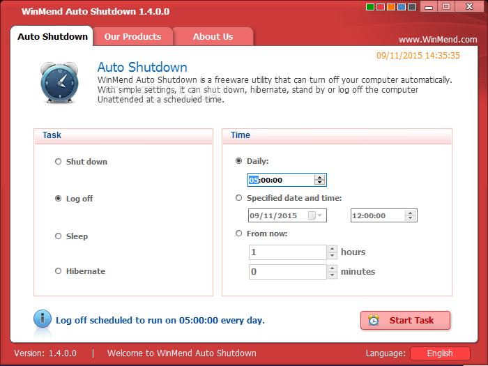 windows 10 auto shutdown app