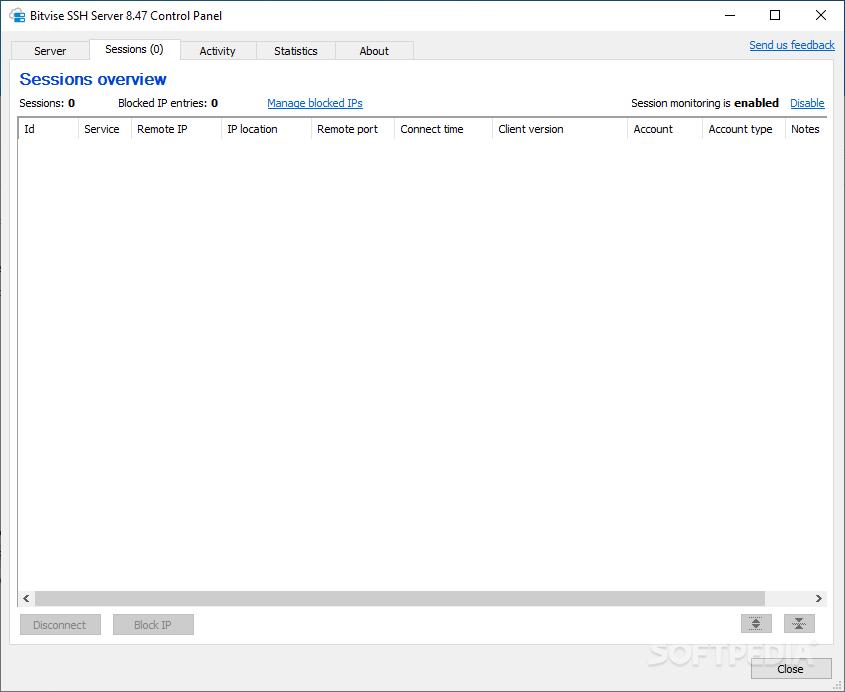 Download Bitvise SSH Server 8 34