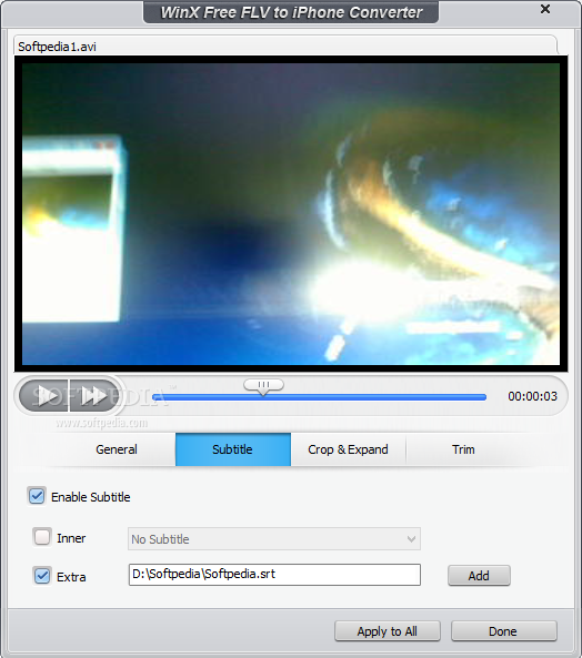 WinX Free FLV to iPhone Converter Download