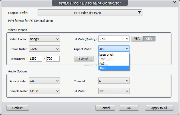 Download WinX Free FLV to MP4 Converter 5 1 1