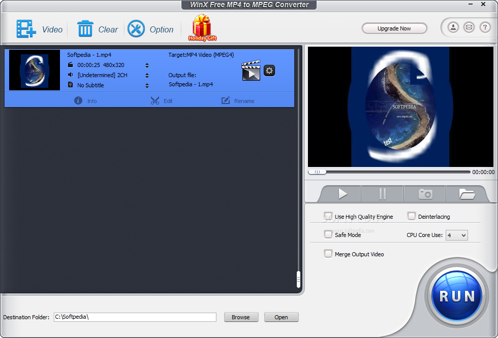Winx free mp4 to mpeg converter 4.1.10