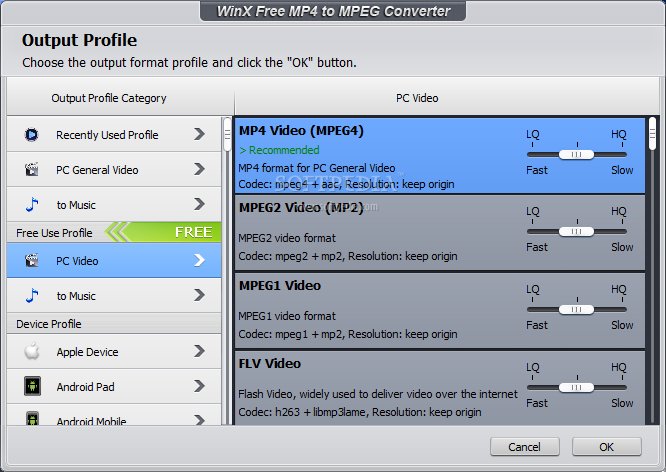 Freeease software free easy avi/wmv/mp4/mpeg/divx converter.
