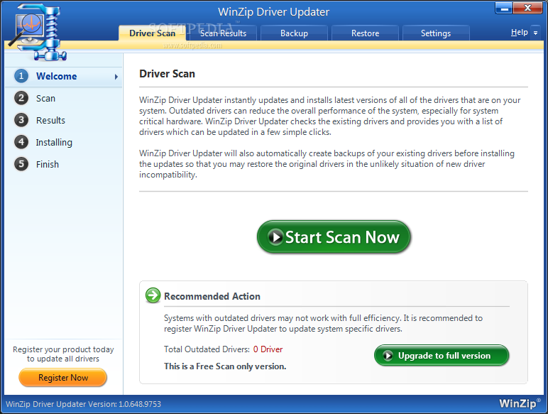 winzip driver updater free activation key