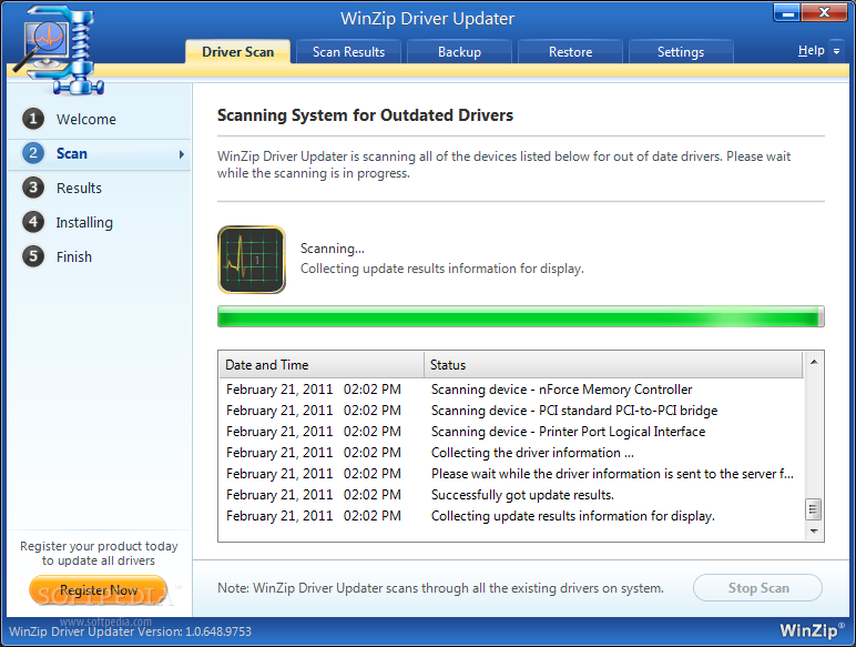 WinZip Driver Updater - WinZip Driver Updater displays the real-time ...
