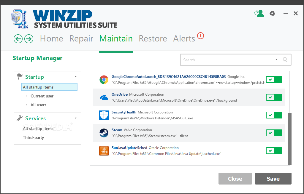 WinZip System Utilities Suite screenshot 12