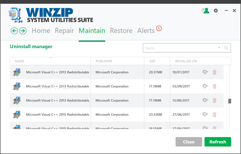 WinZip System Utilities Suite screenshot 13