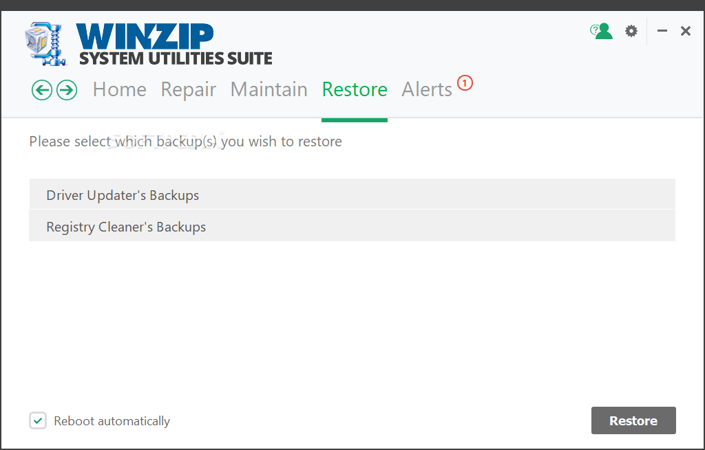 WinZip System Utilities Suite screenshot 14