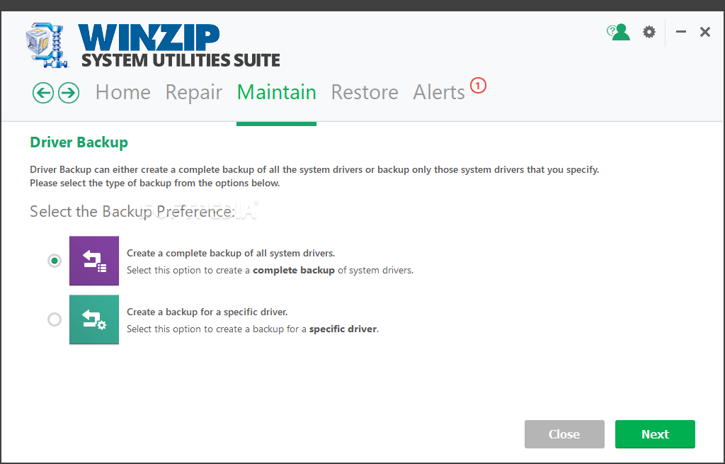 WinZip System Utilities Suite screenshot 9