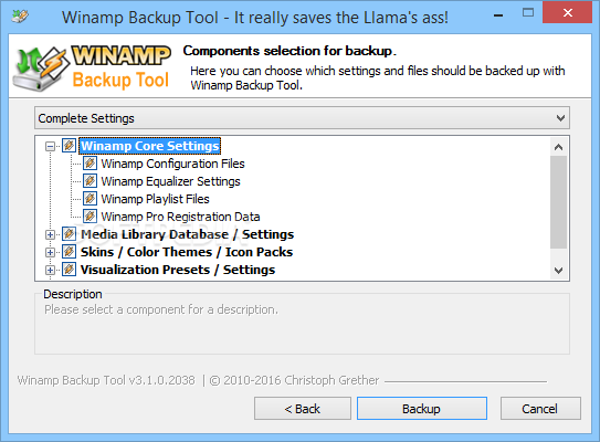 Download Winamp Backup Tool 3 6 3 Build 3272