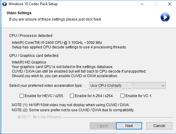 Download Windows 10 Codec Pack 2 1 6