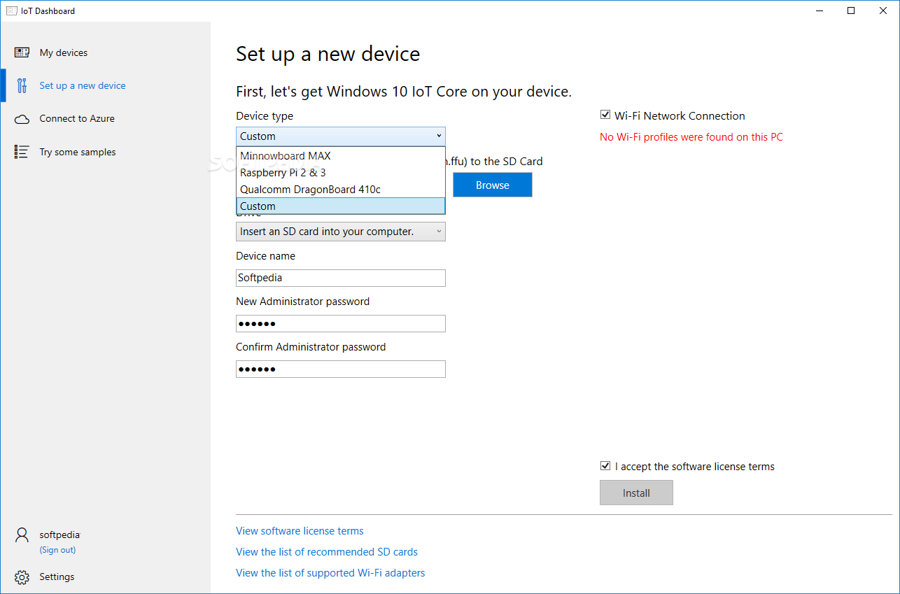 Download Windows 10 IoT Core Dashboard 1 0 1908 19003