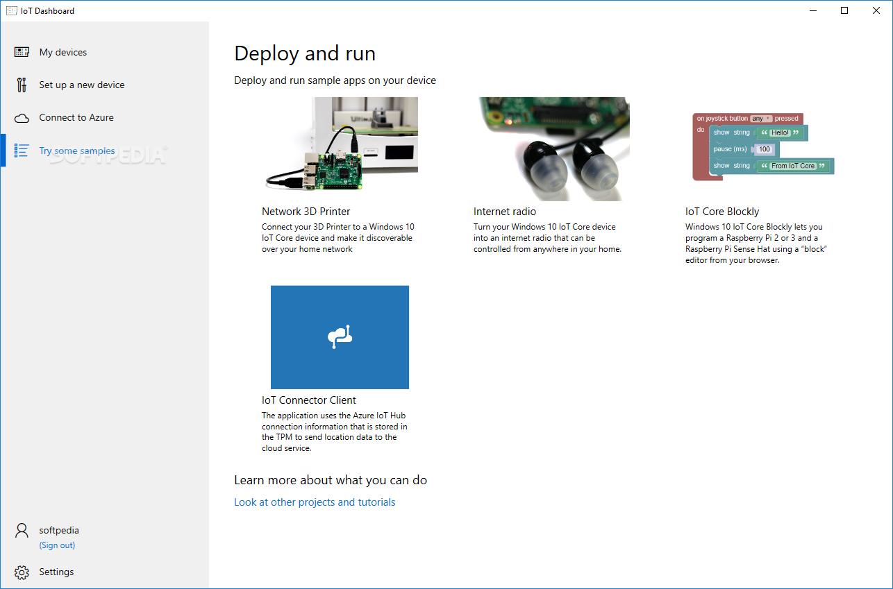 Download Windows 10 IoT Core Dashboard 1 0 1908 19003