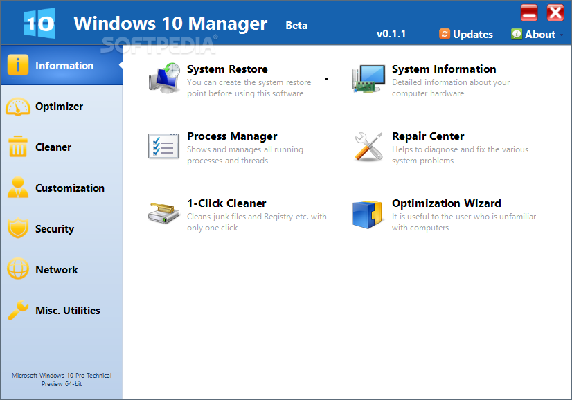 Download Windows 10 Manager 3 1 2