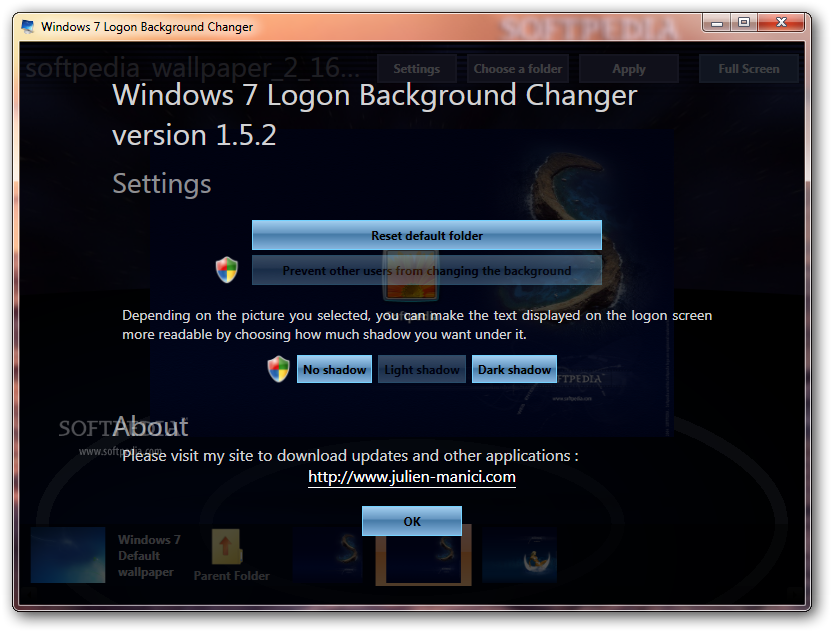 Download Windows 7 Logon Background Changer 1 5 2 0