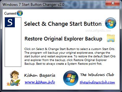 Download Windows 7 Start Button Changer 2 6