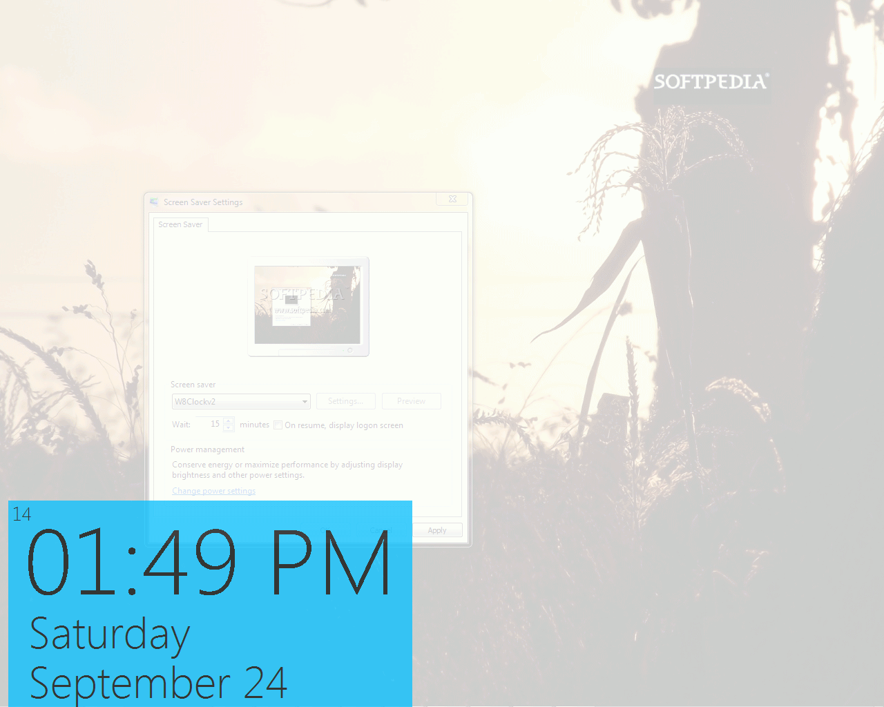 download windows 8 clock screensaver 2