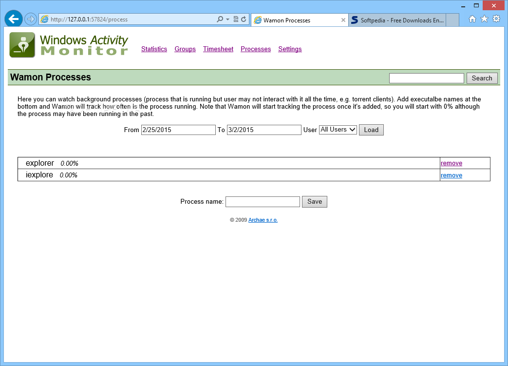 Download Windows Activity Monitor 1 3