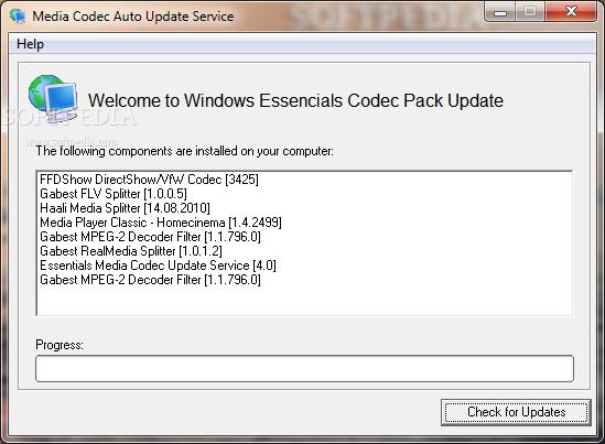 Download Windows Essentials Codec Pack 5 0