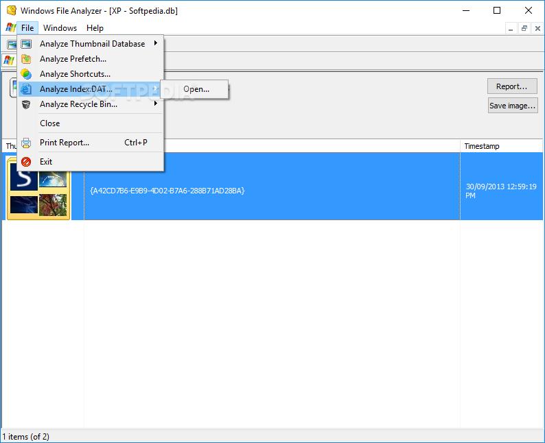 Windows File Analyzer screenshot #2
