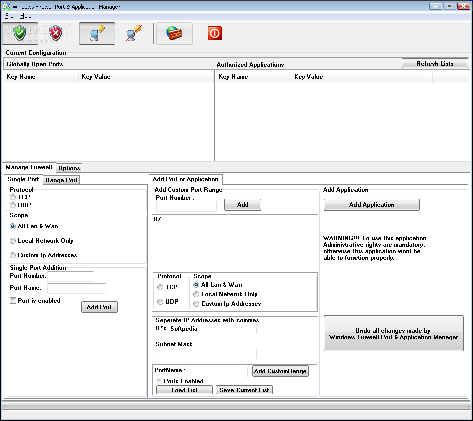 download windows firewall ports application manager 1