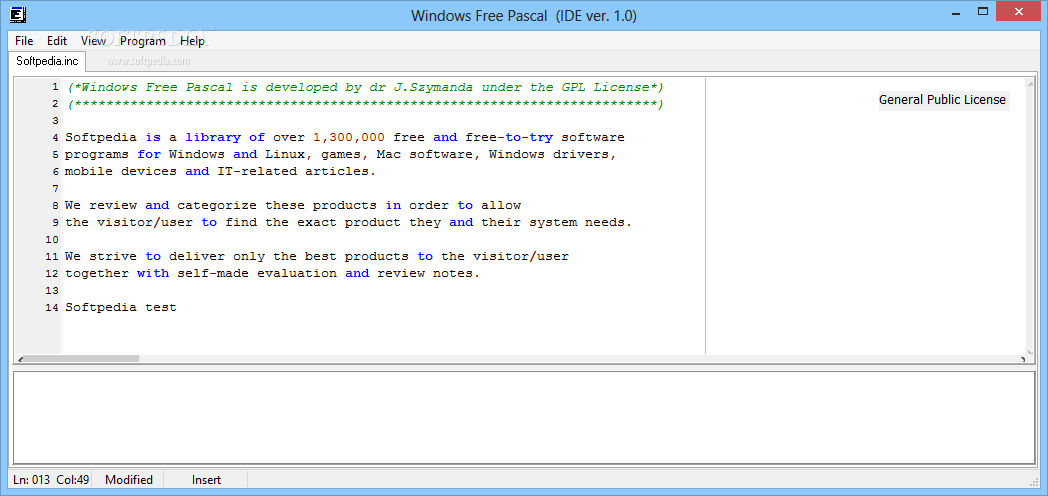 Free pascal download.