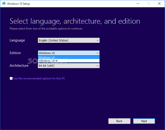 Windows Installation Media Creation Tool on Install Windows 10 Product Key