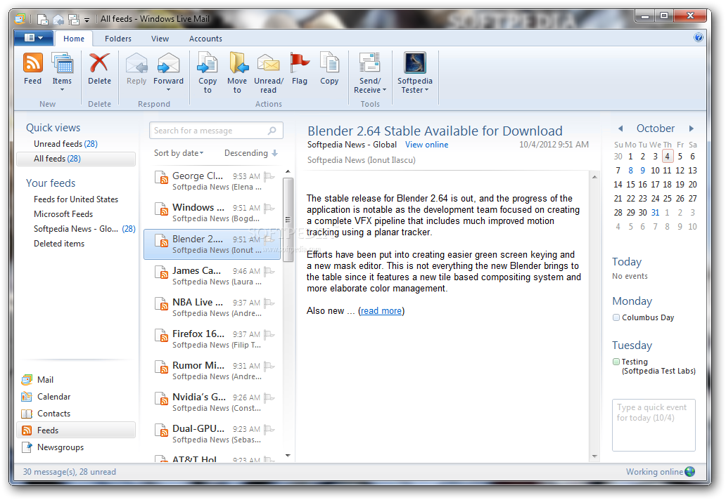 Windows Live Mail Download - Softpedia