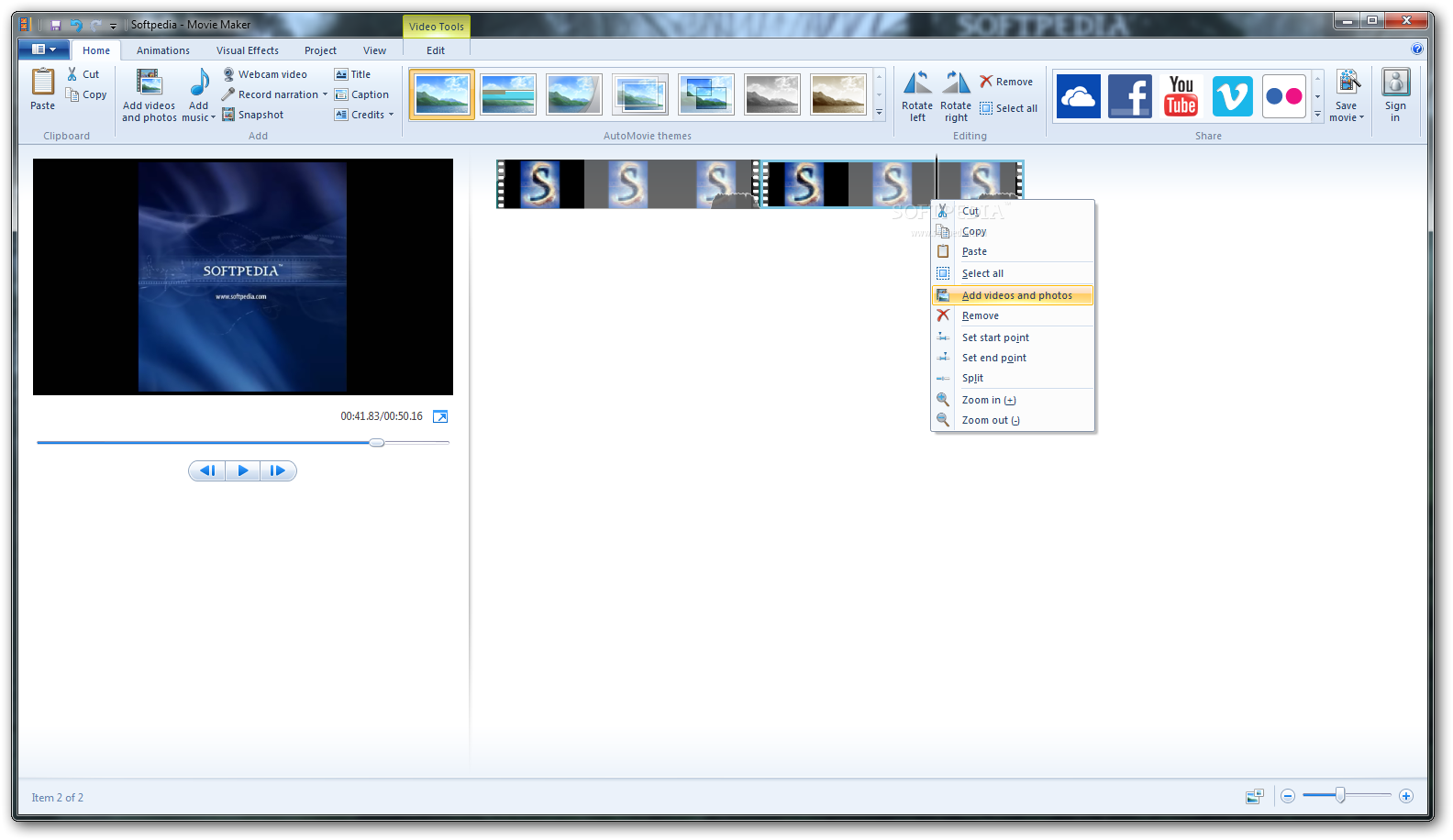 Windows Live Movie Maker screenshot 1