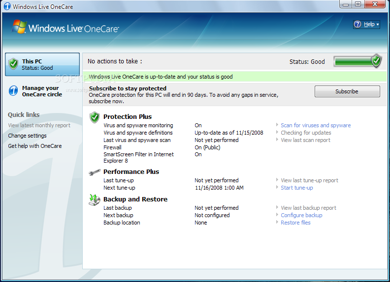 Windows Live One Cre