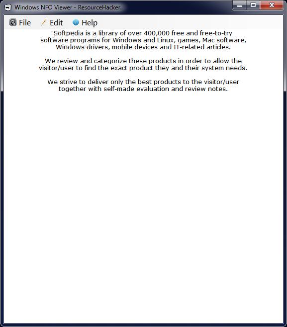 Download Windows NFO Viewer 1 0 Beta RC1