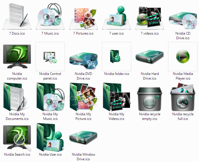 Download Windows Nvidia Seven Icons