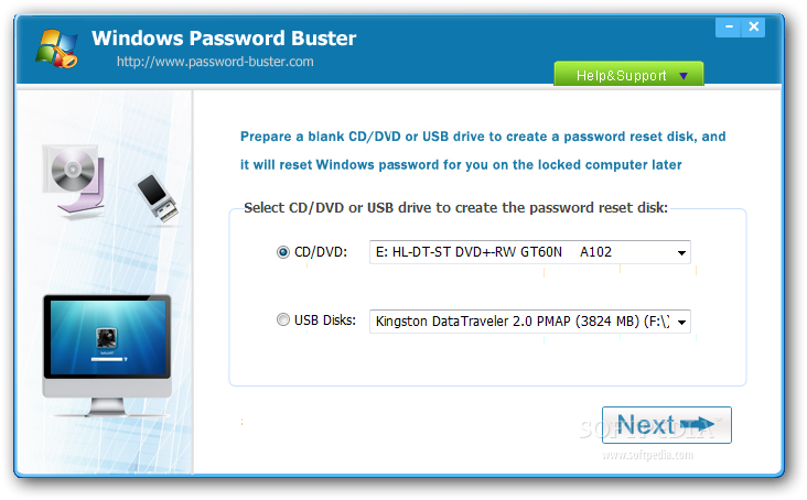 windows password key standard full version