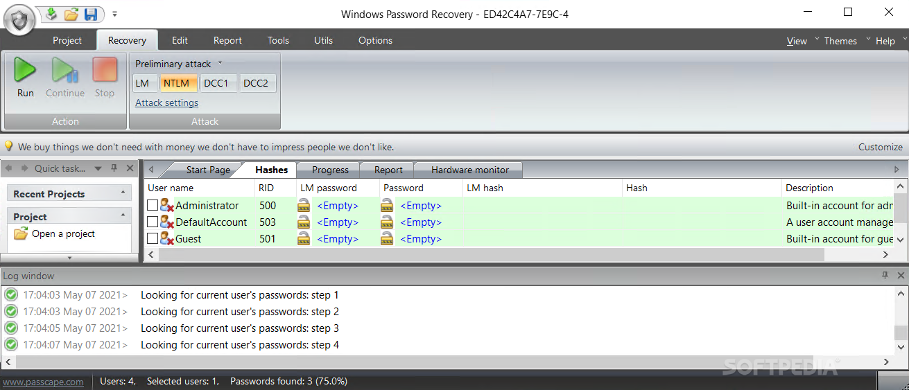 Download Windows Password Recovery 11 7 0 Build 1113