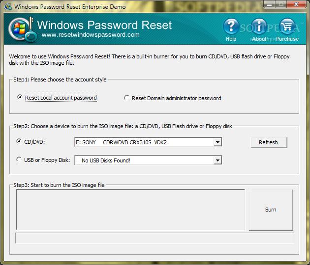 Windows 10 password recovery