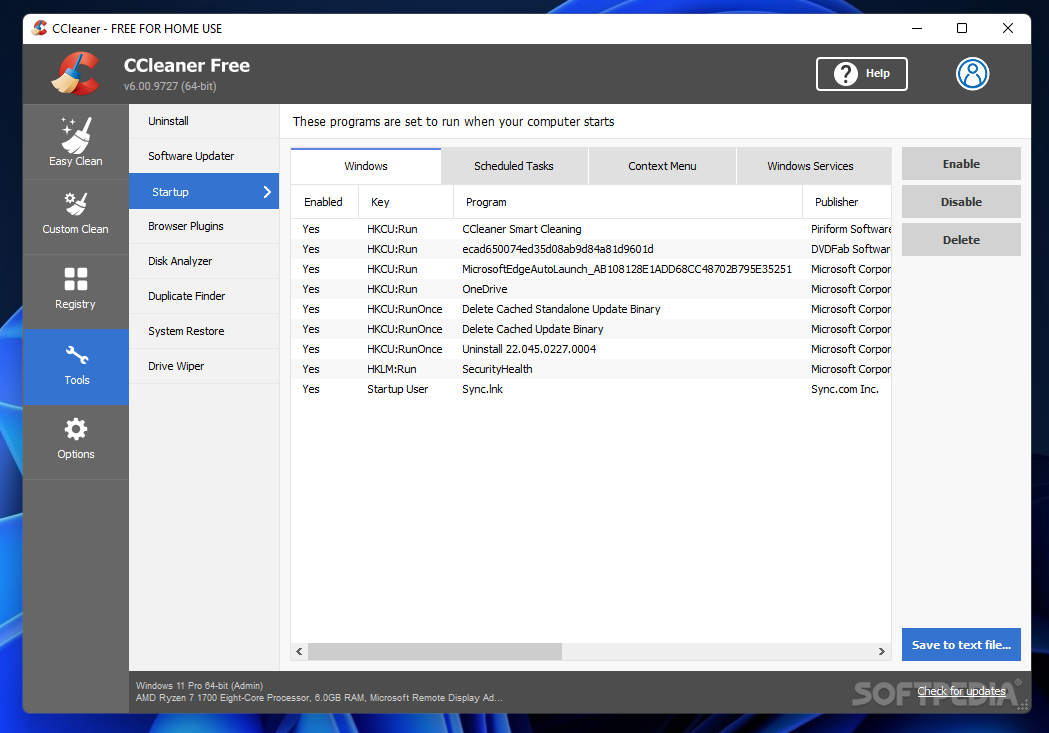 ccleaner portable apps