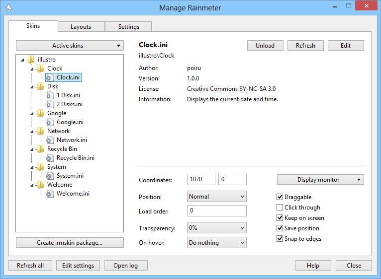 Download Portable Rainmeter 3 0 2 Rev 2161