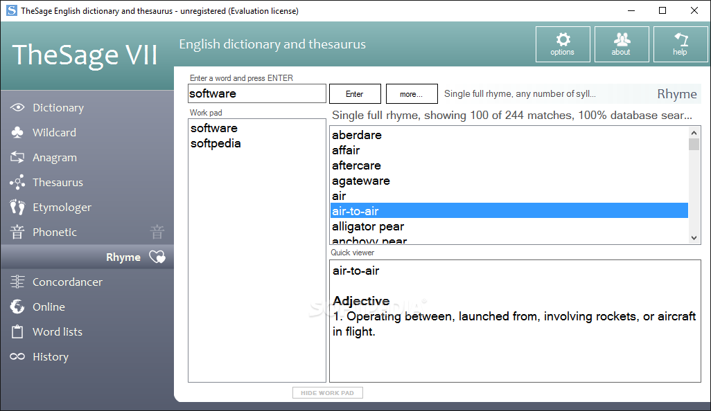Download Portable TheSage English Dictionary and Thesaurus 7-28-11066