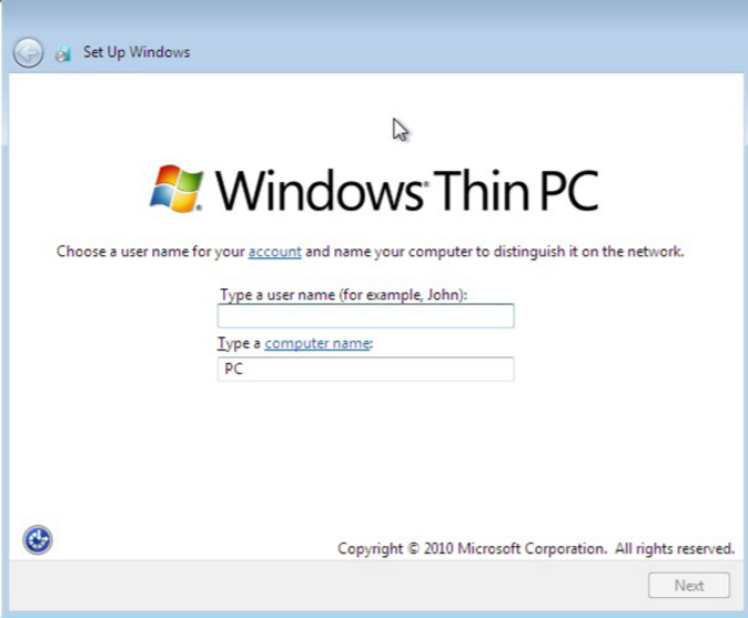 Download Windows Thin PC