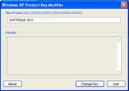 change windows xp key
