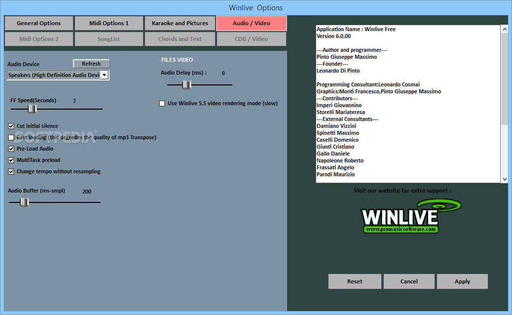 Download Winlive Free 7.0.00