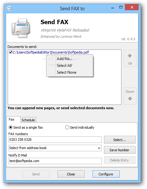 how to send fax from my pc windows 7