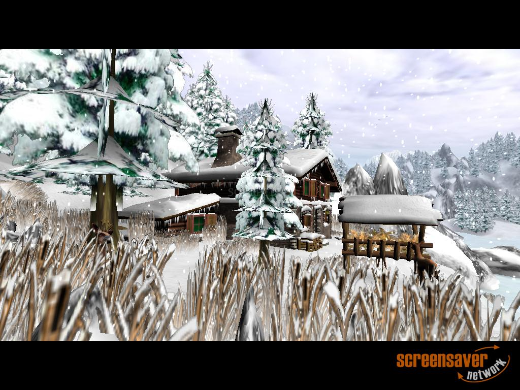 Winter Dream 3D screenshot 1 - Winter Dream 3D screensaver displaying a dre