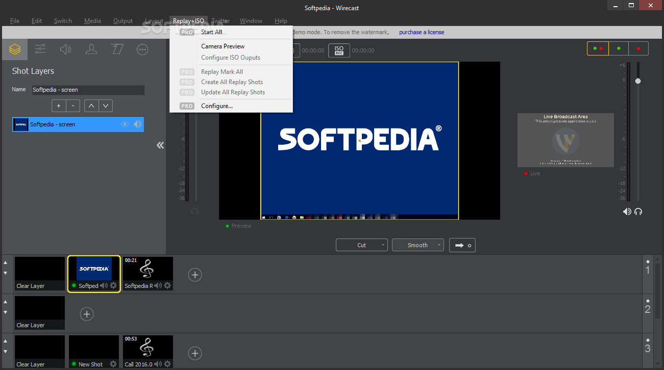 wirecast full screen preview
