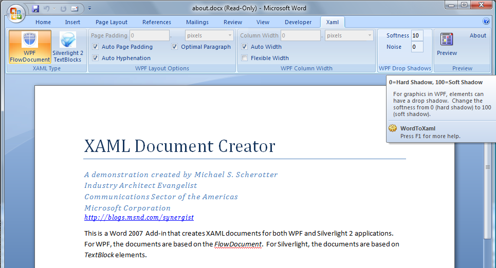 Wpf Flow Document