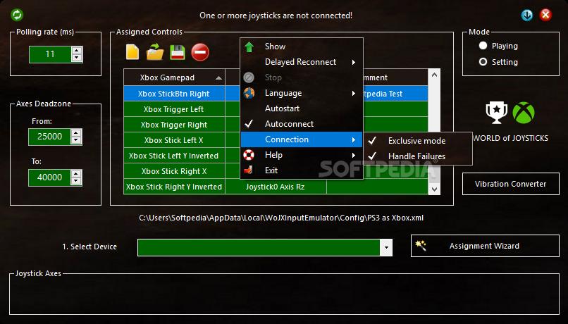 Download World of Joysticks XInput Emulator 2 0
