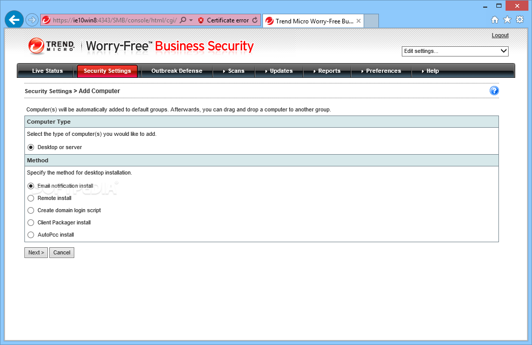 Download Trend Micro Worry-Free Business Security 9 0 Build 3147 SP2 / 9 0  Build 4047 SP3 / 9 0 Build 4336 SP3 Patch