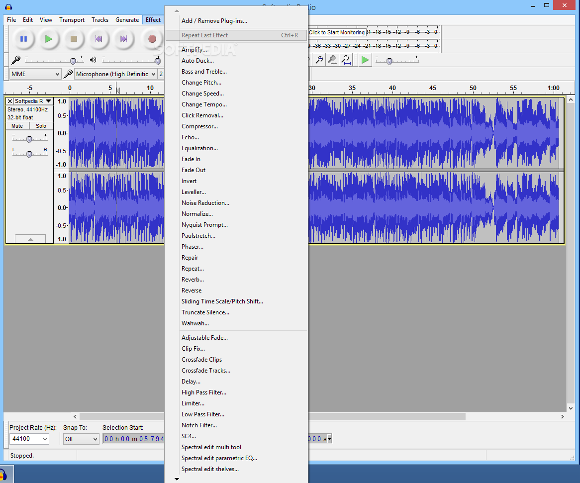 Powerful open-source audio editor