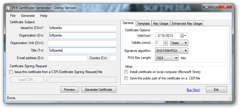 Download X509 Certificate Generator 3.5